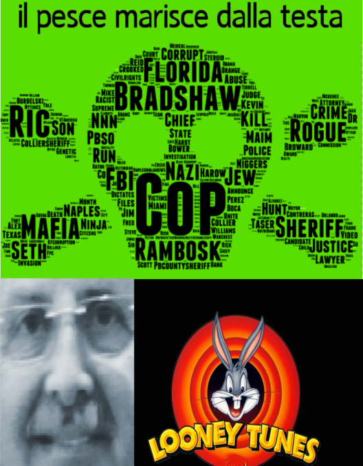"ISIS has their own flag to represent their terror campaign and now ""The ""KOD Flag"" symbolizes the reign of terror that Sheriff Looney Tunes Ric Bradshaw and Not-So-Safe Sheriff Kevin Rambosk have maliciously and provocatively used against unarmed citizens across South Florida over the past decade. 2015 Naples Ninja News designed by artists commissioned by Santa Claus and his most knowledgeable elves to bring attention to the endless chain of murders and mayhem against innocent citizens that Sheriffs Ric Bradshaw and Kevin Rambosk have created for the hundreds of families their evil deputies have killed, maimed, raped, illegally tasered while handcuffed or subdued, disappeared, pummeled and a very long list of other atrocities. Worse yet they've gotten away with it scot-free thanks to a systemically corrupt legal system and an all to often incompetent and complicit so-called local news media who rarely investigate the vast ongoing corruption very often due to their own selfish interests, like getting hired by the sheriffs office which as an example happens with great frequency in Collier County where there is a tremendous conflict of interest between the cops and the local newspaper which is a publicly traded company on the NYSE. KOD Flag 2015 ALL RIGHTS RESERVED - MAY NOT BE REPRODUCED WITHOUT LICENSE AGREEMENT FROM ARTIST AND COPYRIGHT HOLDER. 2015 Naples Ninja News. All rights reserved"
