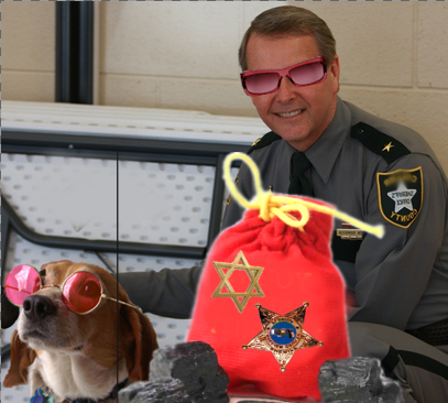 Uh-ohhh! Looks like Kevin Rambosk is still wearing his rose-colored glasses. Seems Santa was not very happy with the hateful people that Kevin has still working at CCSO. Santa wonders why Kevin keeps people that openly spew hate against Jews and niggers and beaners and queesrs and on and on. Santa placed a Star Of David on Kevin's sack of coal as a reminder that things really do need to change at the Collier County Sheriffs Office one way or the other. 2015 Naples Ninja News. All rights reserved.